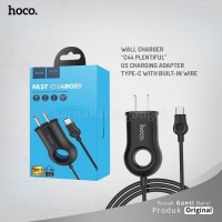 HOCO Wall charger C44 Plentiful US charging adapter Type-C with built-in wire