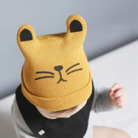 Baby Cat Beanie - Yellow