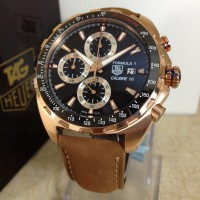 TAG HEUER FORMULA 1 LEATHER BROWN ROSEGOLD