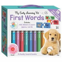 [HelloPandaBooks] My Learning Library Kit First Words includes 8 Board Books and 26 ABC Match & Learn Jigsaw Cards