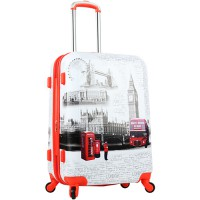 [Handy in] London Orange 24 inches of travel bags for luggage