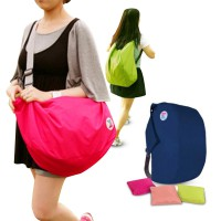 Iconic 3 Way Foldable Bag with Carrying Pouch/4 Warna/Color Pink, Hot Pink, and Green