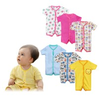 (1pack=3pcs) Branded Baby Short Leg Rompers/Romper Bayi Branded | Size 9-12 Months | 100% Cotton
