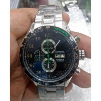 TAG Heuer CARRERA CALIBRE 16 Day Date SILVER BLACK Steel for MEN