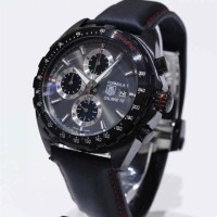 TAG HEUER CALIBRE 16 FORMULA 1 LEATHER BLACK LIMITED EDITION