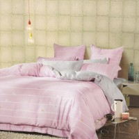 Sleep Buddy Sprei dan Bed Cover Pink Silhouette King Size Sutra Tencel