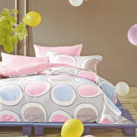 Sleep Buddy Sprei dan Bed Cover Miss Polka Queen Size Sutra Tencel