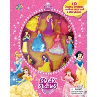 [HelloPandaBooks] Stuck on Stories Disney Princess with 10 Disney Suction Cups and a Storybook!