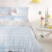 Sleep Buddy Sprei dan Bed Cover Blue Silhouette King Size Sutra Tencel