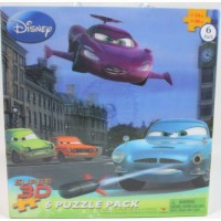 [holiczone] Cardinal Industries Inc. Disney/Pixar Super 3D 6 Puzzle Pack/1798707
