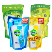 Dettol Pouch 4 Varian [450ml+150ml] /FRESH/COOL/ORIGINAL/LASTING FRESH