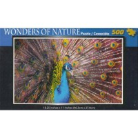 [holiczone] Wonders Of Nature - Peacock 500 pc Puzzle by Cardinal/1799022
