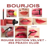 Bourjois Rouge Edition Velvet No 4 Peach Club