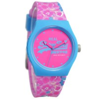 Superdry YL169UP Jam Tangan Wanita Rubber Strap - Pink Ring Biru