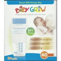 Baby Grow 40pcs Breastmilk Storage Bag Breast Milk kantong asi 150ml