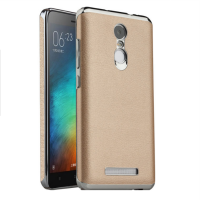Back Case Leather Xiaomi Redmi Note 3 / Note 3 Pro (Gold) Free Tempered Glass