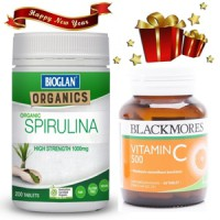 Bioglan Spirulina 200 Tablet + Blackmores Vitamin C - Promo New Year
