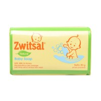 Zwitsal Baby Bar Soap Natural Milk and Honey 80gr (isi 8) - JABODETABEK ONLY