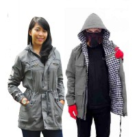 JAKET PARKA COUPLE BABY CANVAS PURRING AKLIRIK PREMIUM