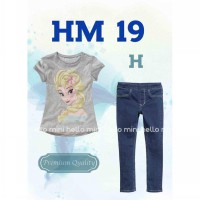 Hello Mini Frozen Jeans Set