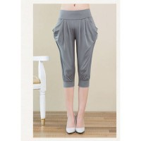 [globalbuy] 11 Colors Summer Trouser Women Capris Pants Super Comfort Milk Fiber Pocket Ha/3948340