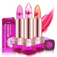 (1+1) FLOWER JELLY LIPSTICK Real Flower infused - Chrysanthemum Scent Sheer Color Changing