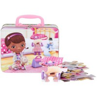 [holiczone] Disney 24pc Doc McStuffins Puzzle in Tin Lunch Box/763372