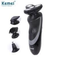 Kemei 4D KM-633 4 In 1 Rotary Electric Shaver Waterproof Razor Clipper
