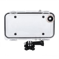 Extreme Sports Waterproof Case with 170 Degrees WideAngle Lens for iPhone 6 6s Compatible with GoPro