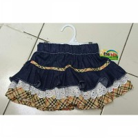 Rok jeans anak blueberry renda