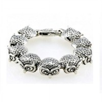 Art Craft 3D Owl Bracelet Gelang Pria Titanium Steel Owl High Quality