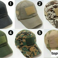 Topi Army Velcro Tactical