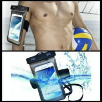 Buy 1 Get 1 ( Waterproff case with Sport Armband buat Handphone size max 5,8 Inch )