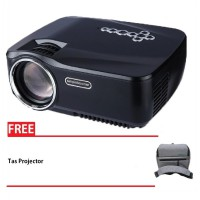 GP70UP Android Mini Projector LED 1200 Lumens FullHD Free Tas Projector