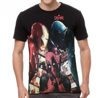 Fantasia T-Shirt Pria Marvel Civil War