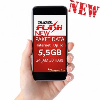 Paket Data Internet TELKOMSEL Flash 5,5GB / Kuota (Simpati, As, Loop) Up To 5,5 GB 24 Jam 30 Hari