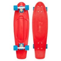 [macyskorea] Penny Skateboards Penny Nickel Complete Skateboard, 27-Inch, Red/White/Cyan/10812602