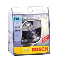 Bosch Lampu Mobil All Weather Plus H4 12V 60/55W P43t (2 Pcs/Set) - Lampu Mobil Paling Terang