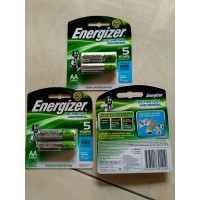 Energizer Rechargeable Battery 1500 mAh Size AA 2 Batre bisa di cas