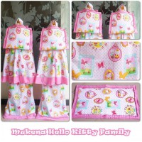 Mukena Anak Hello Kitty Family