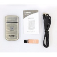 KEMEI KM-5088 Face Care Mini USB Charging Cordless Travel Electric Shaver Trimmer Razor