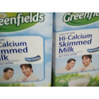 GREENFIELDS UHT Hi-Calcium Skimmed Milk 1L [2pcs]