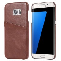 Casing Samsung Galaxy S7 Edge Leather Wallet Card