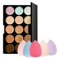 MENOW- PRO 15 COLOR CONTOUR PALLETE FREE 1 PCS BEAUTY BLENDER
