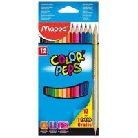 Maped Color Pep's Cardboard Box Set 12 + 1 Gold-Silver