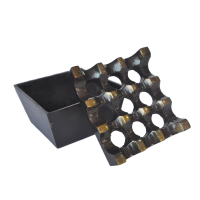 Indo Azur Asbak Aluminium Ashtray Square - Hitam