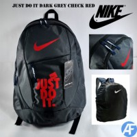 Tas Ransel NIKE Just Do It Dark Grey Red
