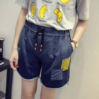 [globalbuy] Plus Loose Appliques Pockets Time-limited Real Size Women Summer Kawai Flower /3882900