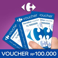 [Voucher] Carrefour Rp.100.000 Card Voucher!