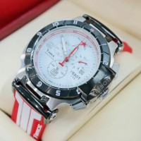 Tissot T-Race Red White Rubber Super Grade Aaa